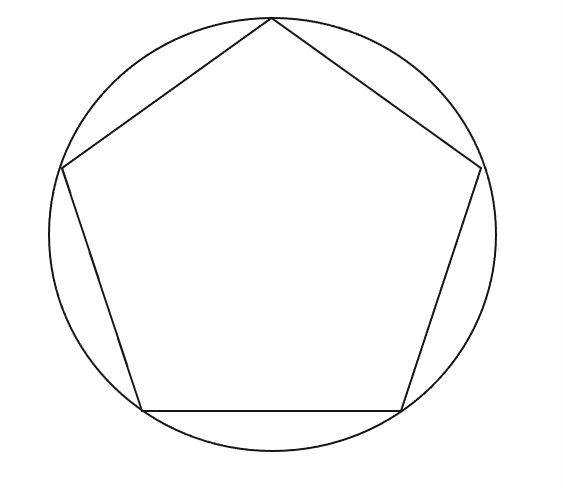 pentagono inscritto in una circonferenza