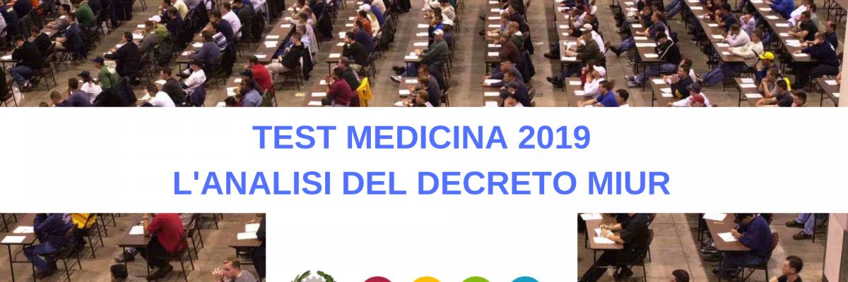Analisi del decreto test medicina 2019