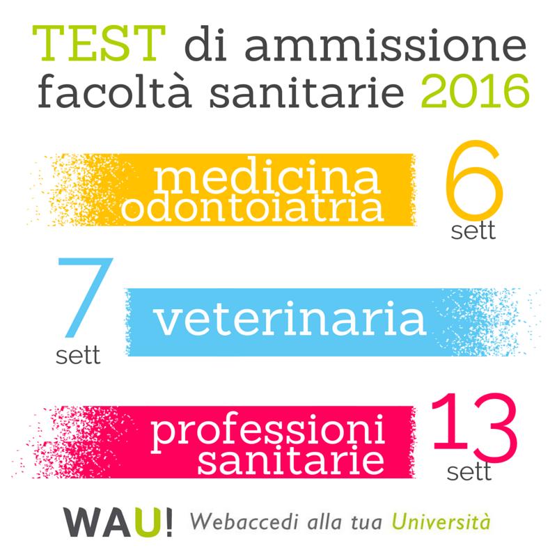 date test ammissione 2016
